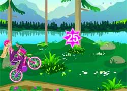 Игры для девочек - Барби на велосипеде
