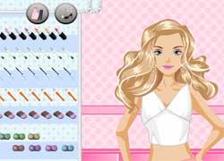 Игры для девочек - сделай красивый макияж кукле Барби
