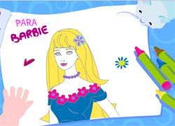 Игры для девочек - раскраска с Барби