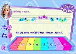 Барби - пианистка