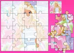 Игра для девочек: пазл с Барби
