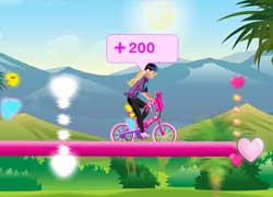 Увлекательные игры для девочек - Барби на велосипеде