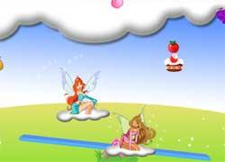 Игры Винкс - Блум, Флора и веселые качели