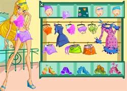 Одевалки в клубе Винкс - создай наряд для Флоры, Стеллы и Блум