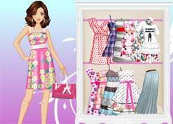 Одевалка для девочек - мамин день