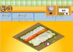 Готовим суши - игра для девочек
