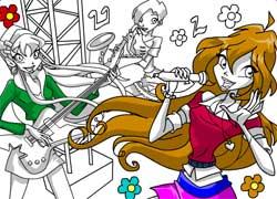 Раскраски с Винкс - игра для девочек